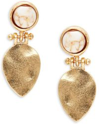 Lord & Taylor - Stone-accented Drop Earrings - Lyst