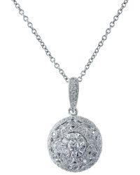 Effy Snowflake Diamond And 14k White Gold Pendant