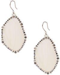 Lucky Brand Modern Opulence Silvertone Agate Statement Earrings - Natural