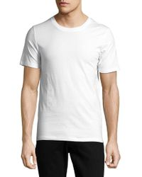 SELECTED - Crewneck Cotton Tee - Lyst