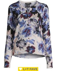 Lord + Taylor - Twight Floral Button Front Cashmere Cardigan - Lyst