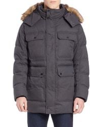 Marc New York - Faux Fur-trimmed Puffer Coat - Lyst