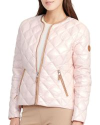 Lauren by Ralph Lauren - Quilted Jacket - Lyst