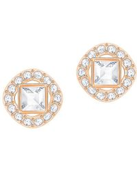 Swarovski - Angelic Square Crystal Framed Earrings - Lyst
