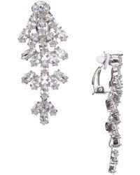 Nina Aerin Crystal Marquise-cut Chandelier Earrings - Metallic