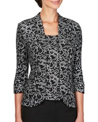 Alex Evenings - Plus Two-piece Jacquard Jacket And Camisole Set - Lyst