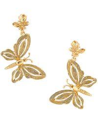 Oscar de la Renta - Butterfly Clip-on Earrings - Lyst