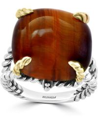 Effy Tigers Eye And Sterling Silver Solitaire Ring - Brown
