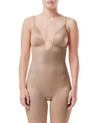 Spanx - Suit Your Fancy Plunge Low-back Mid-thigh Bodysuit - Lyst