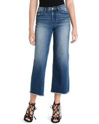 Jessica Simpson Adored High Rise Wide Crop Jeans - Blue