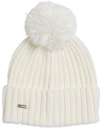 29c42adb Calvin Klein | Sweater Knit Beanie With Pom-pom | Lyst