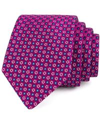 Ted Baker - Micro Frame Circle Silk Tie - Lyst