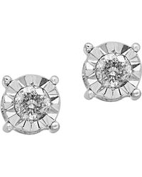 Effy - Pave' Classica Diamond And 14k White Gold Earrings - Lyst