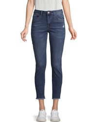 Democracy Faded Skimmer Jeans - Blue