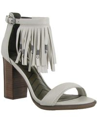 MIA - Stacked Heel Leather Sandals - Lyst