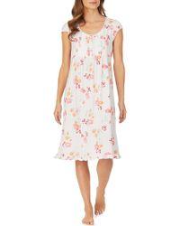 Eileen West Waltz Floral Nightgown - White