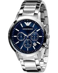 Emporio Armani Slim Stainless Steel Chronograph Watch - Multicolour