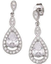 Lord & Taylor - Sterling Silver And Cubic Zirconia Teardrop Earrings - Lyst