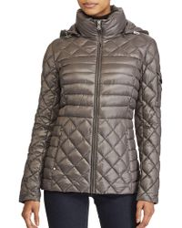 Lauren by Ralph Lauren - Packable Quilted Down Coat - Lyst