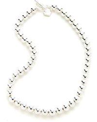 Lauren by Ralph Lauren Mirrored Bead Necklace - Metallic