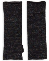 Lord & Taylor - Cashmere-blend Knit Fingerless Gloves - Lyst