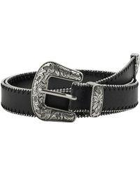 Mango Cowboy Style Belt - Black