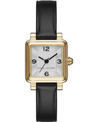 Marc Jacobs - Vic Goldtone Stainless Steel And Leather Three-hand Strap Watch - Lyst