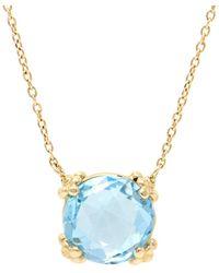 Anzie - Dew Drop 14k Yellow Gold & Topaz Mini Cluster Pendant Necklace - Lyst