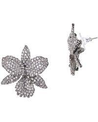 Nina - Chana Swarovski Crystal Large Orchid Stud Earrings - Lyst