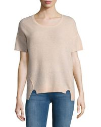Lord & Taylor - Boxy Cashmere Tee - Lyst