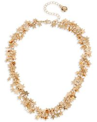 BCBGeneration Starry Goldtone Charm Collar Necklace - Metallic