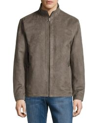 Weatherproof - Perforated Faux Suede Jacket - Lyst