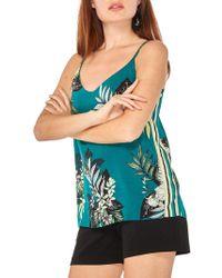 Dorothy Perkins Tropical Sport Cami - Green