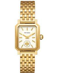 Tory Burch Robinson Goldtone Stainless Steel Bracelet Watch - Metallic