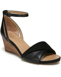 Franco Sarto - Deirdra Leather Wedge Sandals - Lyst