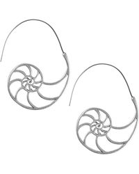 Lucky Brand Turkish Riviera Silvertone Drop Earrings - Metallic