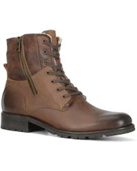 Marc New York - Vesey Fleece-lined Leather Hiking Boots - Lyst