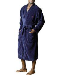 Polo Ralph Lauren - Velour Robe - Lyst
