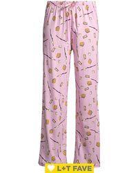 Hue Pardon My French Printed Pajama Pants - Pink