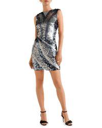 Mango - Sequin-embellished Sheath Dress - Lyst