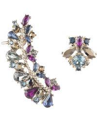 Marchesa - Swarovski Crystal Mismatch Earrings - Lyst