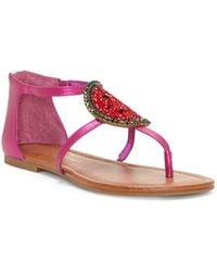 Jessica Simpson - Konnie Leather Sandals - Lyst
