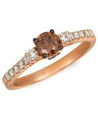 Le Vian ? Chocolate & Nude Diamond & 14k Strawberry Gold Ring - Metallic