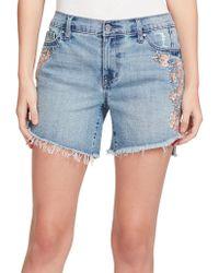 Jessica Simpson - Mika Best Friend Midi Denim Shorts - Lyst