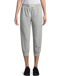 Sam Edelman - Cropped Ripped Joggers - Lyst