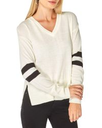 Dorothy Perkins - V-neck Striped Sweater - Lyst
