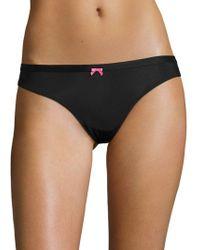 Betsey Johnson - Lace-trimmed Bikini Panties - Lyst