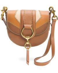 Frye - Ilana Colorblock Small Saddle Bag - Lyst