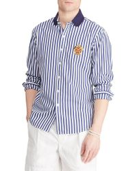 Polo Ralph Lauren Classic-fit Striped Shirt - Blue
