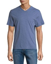 Lord & Taylor - V-neck Cotton Tee - Lyst